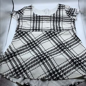 Maternity black/white tunic